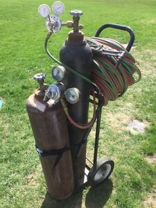 Oxy Acetylene Cutting Torch and Cart