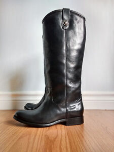 New FRYE Black Size 5.5 Melissa Button Leather Boots