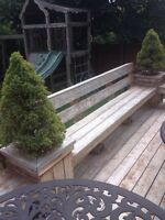 Free pressure treated wood/benches/railing