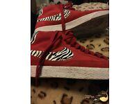 Nike Blazers Hightop- Zebra Print Size 10