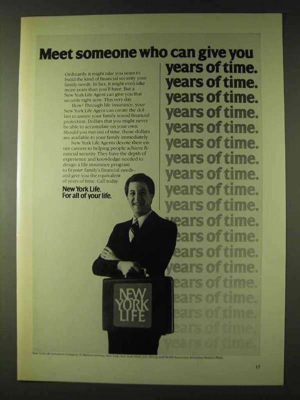 1979 New York Life Insurance Ad - Meet Someone