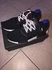 Adidas NMD r1 CORE BLACK. Size 12-13 reflective