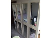 2 x Drawer wardrobe mirror clothes for sale