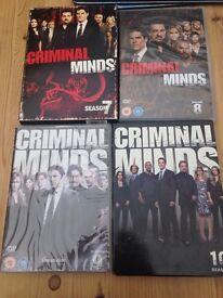 Criminal minds DVD- series 7, 8, 9 &10