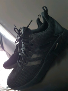 Mens jet black Adidas shoes