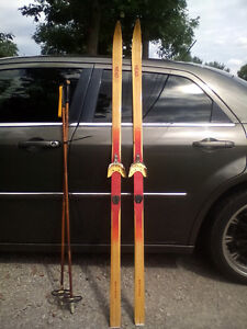 Head LT children's cross country skis with poles