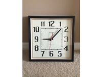 Square wall clock analogue mayfair