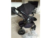 Black Vinyled Icandy Peach Black Magic Pushchair