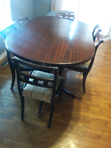Mahogany kitchen table and chairs