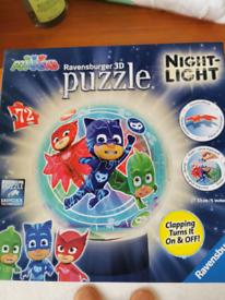Pj mask 3d puzzle night light