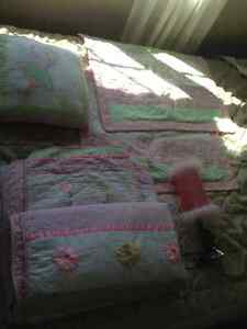 Double size Bedding set with lamp