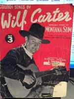 1938 Wilf Carter Music Book