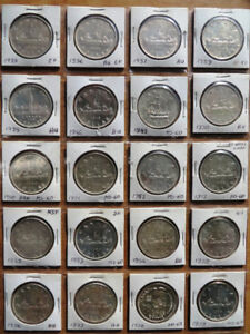 1935-2005 Canada silver dollars collection