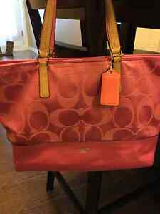 Pink coach purse for sale