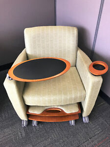 Comfortable Chairs with swivel table & cup holder
