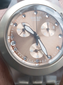 Swatch titanium watch