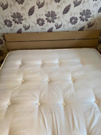 Kingsize bed complete with headboard mattress underbed storage drawers