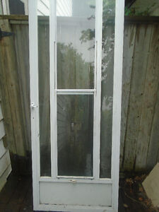 White Aluminum Storm Door