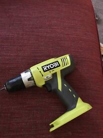 Ryobi drill with battery and official drill/screwdriver bits