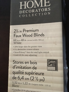 2  x 2 1/2 inch Premium Faux Wood Blinds - White