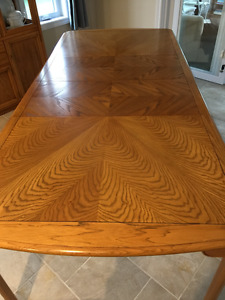 Solid Oak Dining Table with four Chairs - PRICE REDUCED