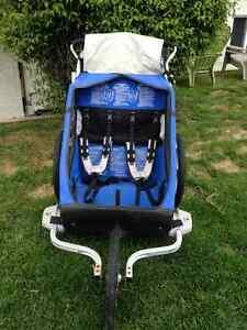 Double- Cheetah Sport Chariot-blue