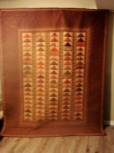 """Wall hanging - country decor art quilt """"Geese in Flight"""" Peterborough Peterborough Area image 1"""