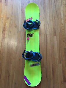 NEW 155 Ride Snowboard With Ride Bindings