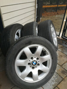4 BMW rims and Yokohama summer tires