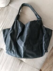 Nicoli Olive Green Leather Handbag