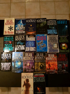 Lots of dean koontz paperback and hardcover books