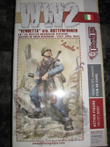 12'' TwistingToyz WW2 Italian/German Figure''Aurelio''Italy1944*