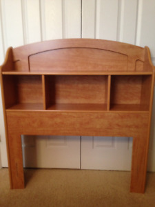 Twin bed head board and frame