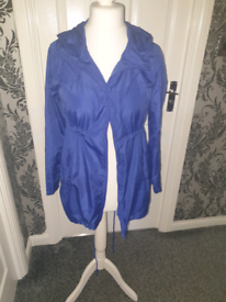 Blue rain jacket size s