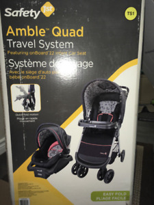 Brand New Safety First Amble Quad Travel System
