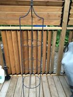 Black iron garden trellis
