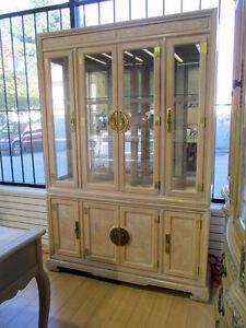 White Oak China Display Cabinet