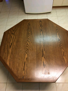 Custom Oak Kitchen or Dining Room Table and 6 Chairs