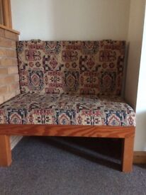 Double Bench Seat with cushion freestanding