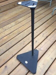 Four metal speaker stands Strathcona County Edmonton Area image 1