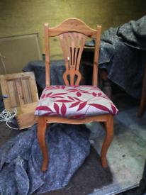 4 pine chairs £10 each