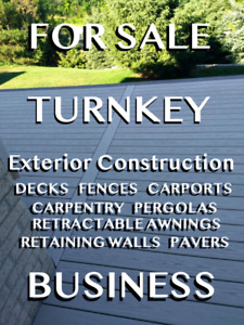 FOR SALE: TURNKEY CONSTRUCTION-EXTERIORS BUSINESS
