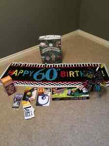 60th Birthday Gag and decorations