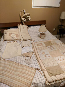 Cocalo 9 piece crib bedding set in Sweet Latte