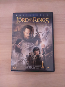 DVD seigneur des anneaux lord of the rings return of the king