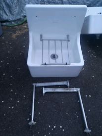 Armitage Shanks Alder Cleaners Sink Fireclay 510mm x 380mm used