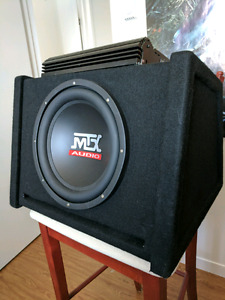 "Sub 12"" MTX audio avec ampli Orion"