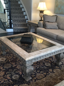 Glass Top Coffee Table - High End Piece
