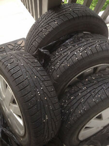 4 Winter Tires on Rims: Nokian Hakkapelitta 185/65R 14 90R