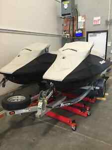 PAIR OF SEADOO RXT 260's WITH TRAILER